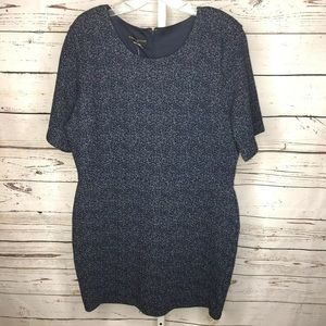 Simply styled navy dress size XL petite new
